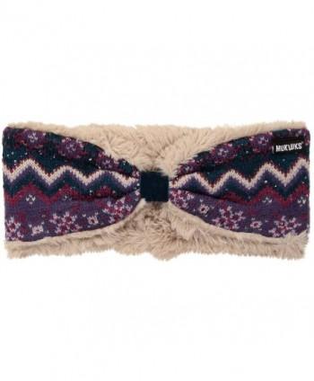 Muk Luks Women's Zig Zag Headband - Pink - CR1867IUO7C