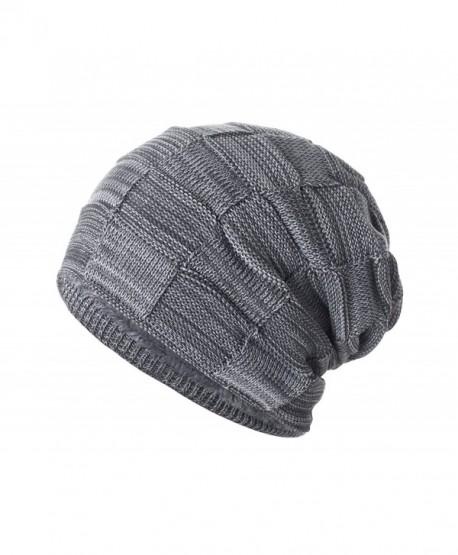 Yidarton Slouchy Beanie Hat Winter Warm Knit Thick Skull Cap - Gray -  CN12MZW51RU 75a5e07ff80