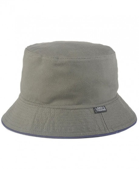 Joymee Reverse Two Sides Sun Hat Bucket Caps Women Men Summer Flat Packable New - Navy Green - CC182LL9NOG