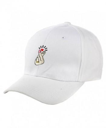 NE Norboe Summer Hip Hop Finger Shape Hat Casual Baseball Visor Outside Cap - White - CE12OBREVCZ
