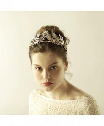 Greek / Roman Gold Leaf Crown Headpiece - Bridal Wedding Headband - Roman Crown - CO185LGW69Z