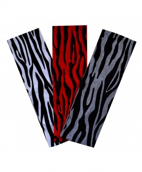 Zebra Print Cotton Stretch Headbands SET OF 3 for Fashion or Workout - Zebra - CG117DR6HLV