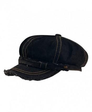WASHED CANVAS NEWSBOY CAP - Black - C711057UCE9