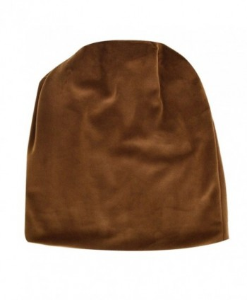 LABANCA Women Fashion Leisure Winter Warm Hat Velvet Soft Beanie for Outdoors - Brown - CO188E553H5