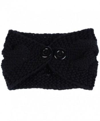 Womens Fashion Crochet Headband Adjustable in Women's Cold Weather Headbands