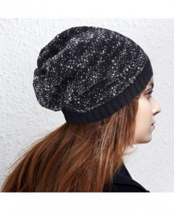 DELUXSEY Cable Slouchy Beanie Women