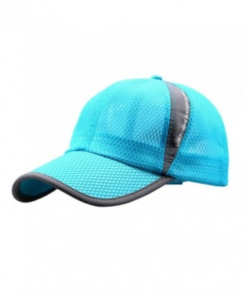 Febecool Unisex Outdoor Sunshade Sun Hat Quick-dry Ventilation Net Baseball Caps - Sky Blue - CV12O5M4FK7