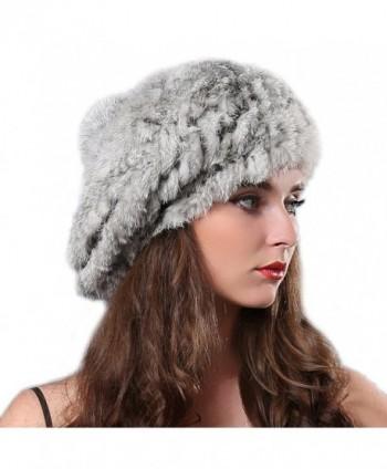 Women Winter Fur Beret Hat in Women's Berets