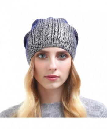 b408177caa925 Beanie Hats For Women - Knit Cashmere Hat Caps Winter Fashion Bling Beanies  - Dark Blue  Beanie Hats Women Cashmere Fashion ...