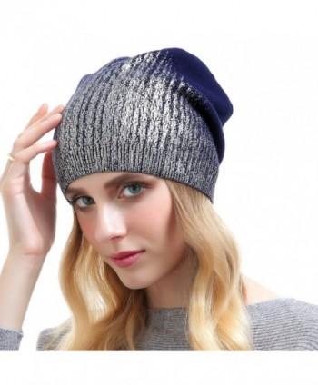 5cc7ec874b94f ... Knit Cashmere Hat Caps Winter Fashion Bling Beanies - Dark Blue  Beanie  Hats Women Cashmere Fashion  Beanie Hats Women Cashmere Fashion in Women s  ...