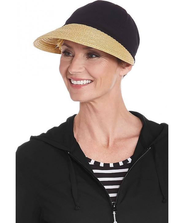 Coolibar UPF 50+ Women's Sun Shade Visor - Sun Protective - Black - C717YOL3XCD