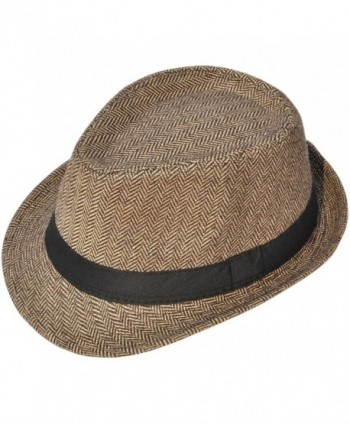 Classic Gangster Stain Resistant Crushable Gentlemans in Women's Fedoras