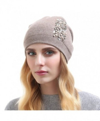 Vemolla Girls Knitted Oversized Headwear - Khaki - CH187R88UNX