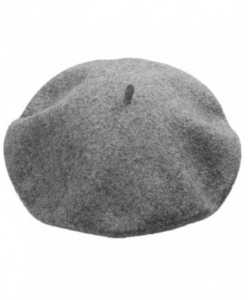 Yamer Women Girl 2017 Classic Wool Beret Hat French Style Cap Solid Color Beanie - Dark Grey - CQ188HYA0CK