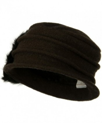 Wool Felt Hat Flower Ribbon in Women's Bucket Hats
