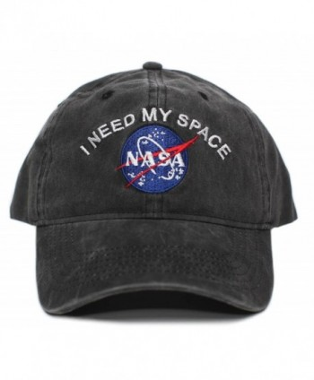 NASA I Need My Space Pigment Dye Embroidered Hat Cap Unisex Adult Multi - Black - CW188634TI5
