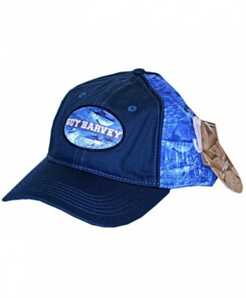 Guy Harvey Blue Marlin Camo Fitted Fishing Hat - C9120XYQJQX