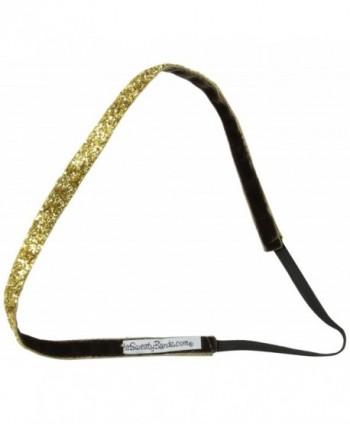 Sweaty Bands Viva Diva Headband- Gold Sparkle- 3/8-Inch - C211F7FYSEJ