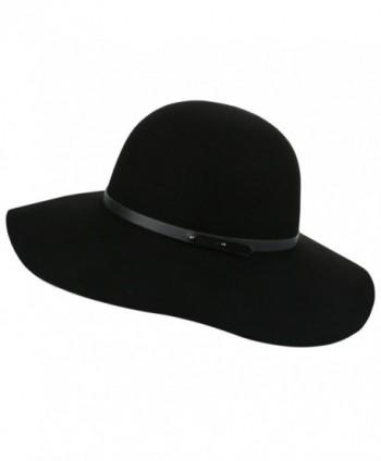 f2f2212d16f Sedancasesa Wide Brimmed 100% Wool Felt Floppy Hat Vintage Women Warm Triby  Hats - Black