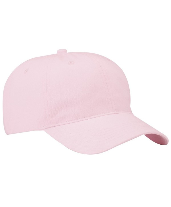 Port & Company Men's Brushed Twill Low Profile Cap - Light Pink - C611QDRSPZX