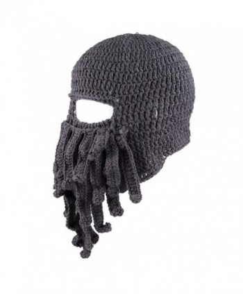 Amurleopard Unisex Barbarian Beanie Octopus in Men's Skullies & Beanies