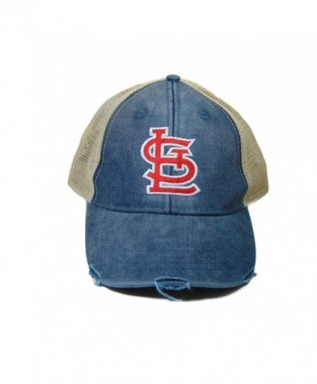 STL Monogrammed Cardinals Trucker Hat Blue - CZ1820G6628