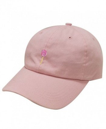 City Hunter C104 Lollipop Cotton Baseball Dad Cap 19 Colors - Pink - CH183OSUNW0