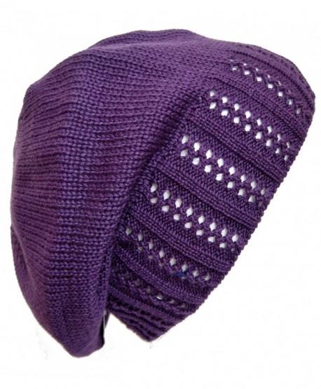Frost Hats M-232W Lovely Crochet Srping Beret/Hat Cotton Acrylic Fall Hat Frost Hats - Purple - CU11D12E04N