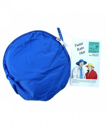 Twist-and-Fold Rain Hat- Unisex- 15 inch diameter brim - Royal Blue - C511N7NRF93
