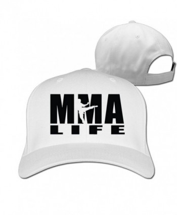 Mma Life Unisex Classic Cotton Adjustable Caps - White - CX186DLKR8G