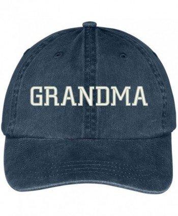 Trendy Apparel Shop Grandma Embroidered Pigment Dyed Low Profile Cotton Cap - Navy - CG12GPQXQX7