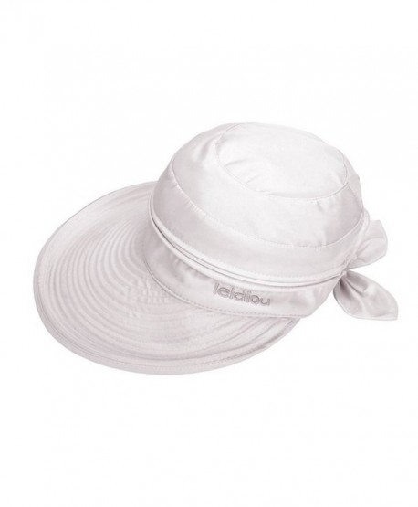 Aisa Womens Bow Sun Hats Large Brim Sun Visor Hat Dual Purpose Summer Beach  Hat UV 023e7b7259c