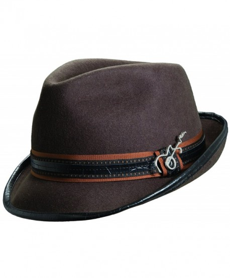 f8ad865f7279 Carlos Santana Wool Felt Fedora with Guitar Pin - Meditation  (SAN216)-Chocolate-S/M - CQ119H28H27