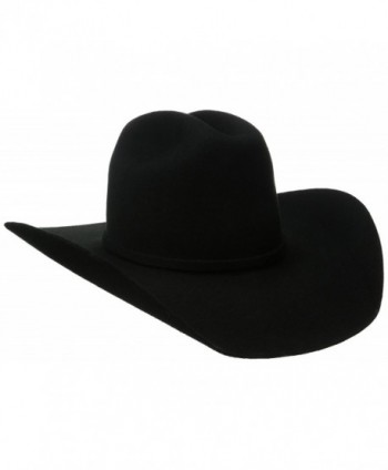 Twister Men's Dallas 2X Wool Cowboy Hat Black 7 5/8 - CS11HU8WPZZ
