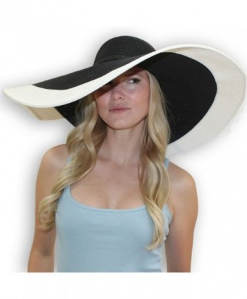Rebecca 8 Inch Wide Brim Derby Sun Hat Large - UPF 50 Sun Protective Hat For Women - CH11JSLMBNX