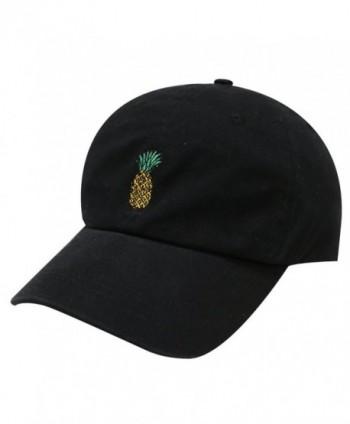 Pineapple Embroidered Baseball Women Black